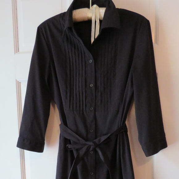 Style & Co Dresses & Skirts - Black Button-front Style & Co Black Stretch Dress